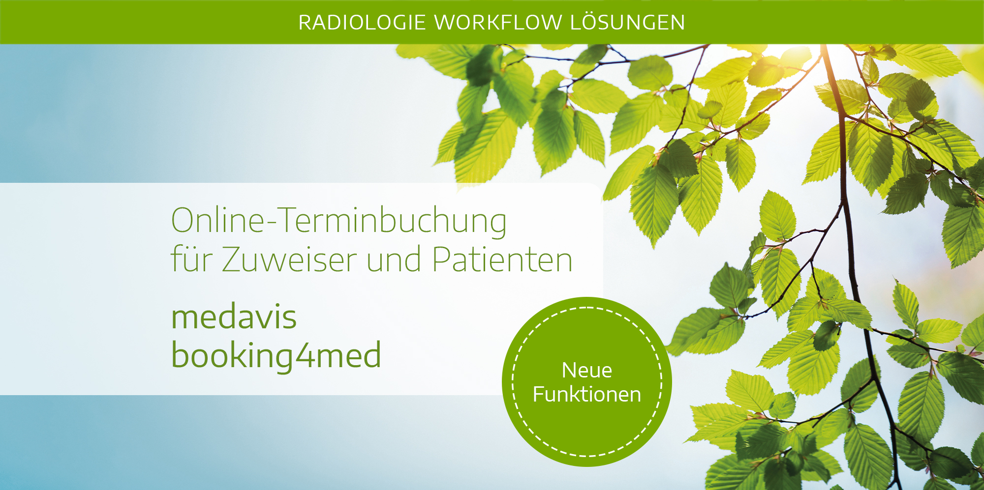 Header Pressemitteilung booking4med Neuerungen
