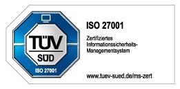 ISO 27001 Prüfsiegel