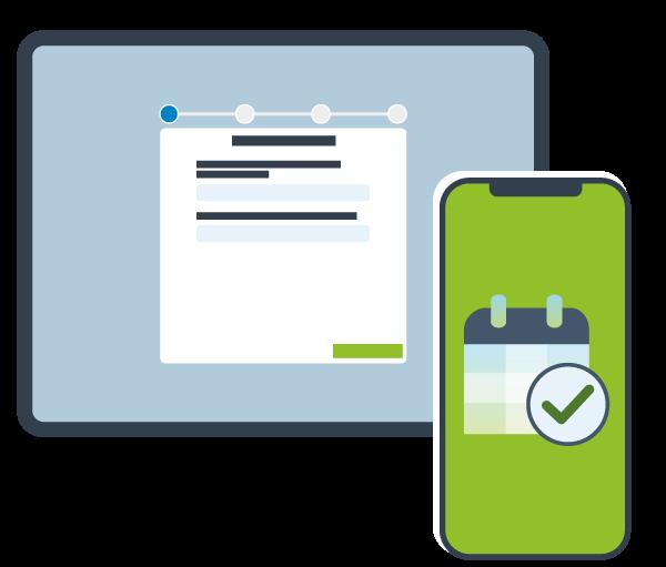 Online-Terminierung mit booking4med