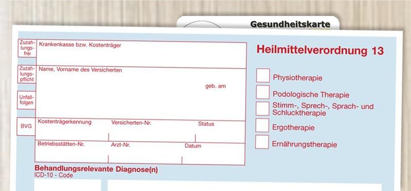 Workflowintegrierte Heilmittelverordnung